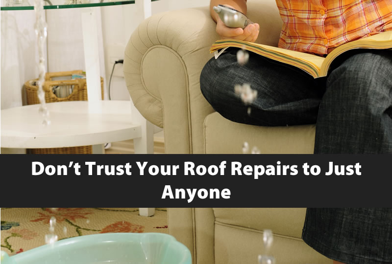 Don't Trust Your Roof Repairs to Just Anyone
