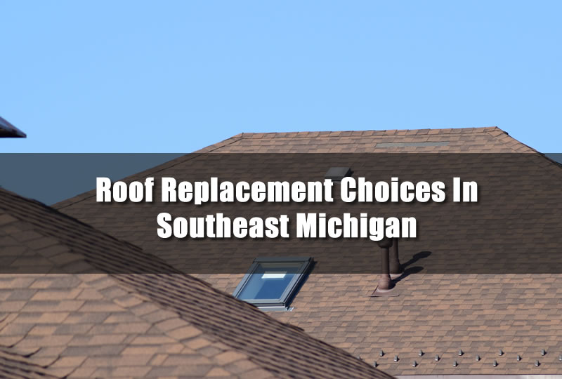 Roof Replacement Choices In Southeast Michigan