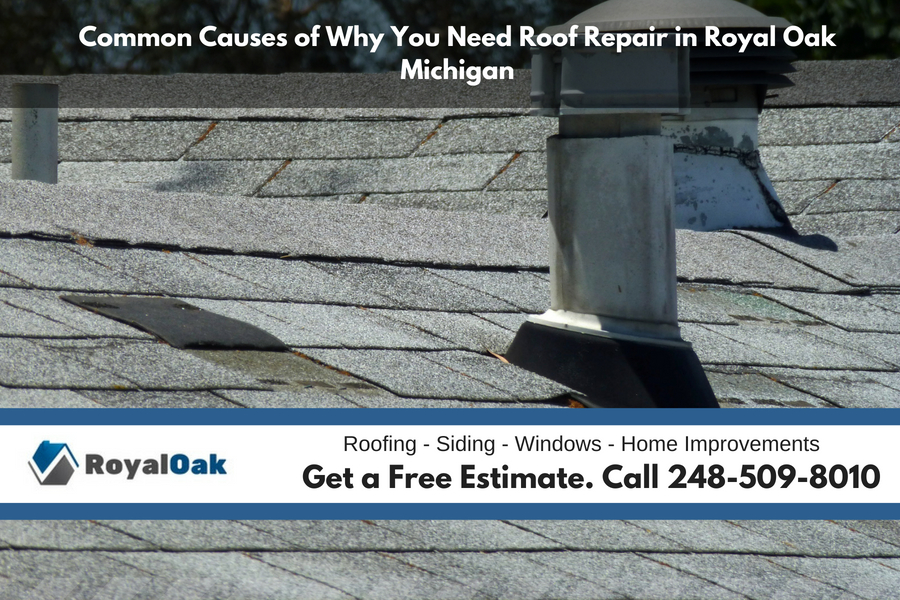 Common Causes of Why You Need Roof Repair in Royal Oak Michigan