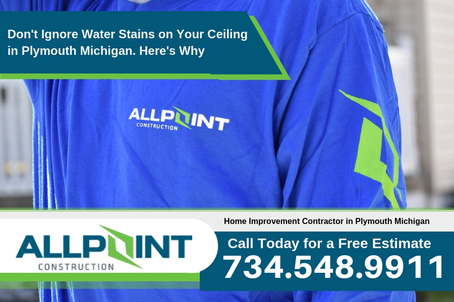 Don't Ignore Water Stains on Your Ceiling in Plymouth Michigan. Here's Why