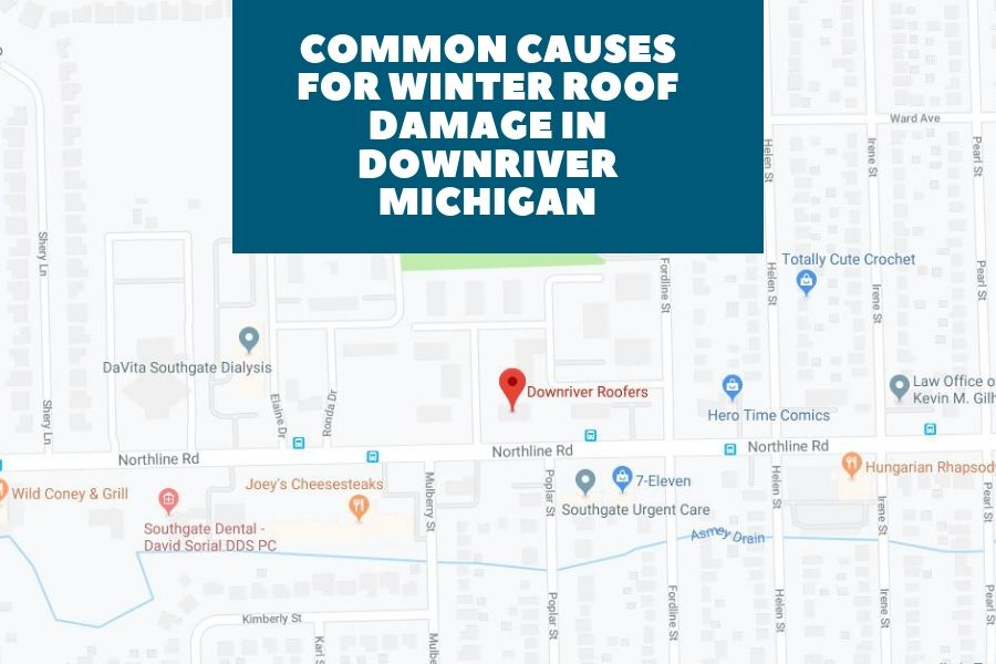 Common Causes for Winter Roof Damage in Downriver Michigan